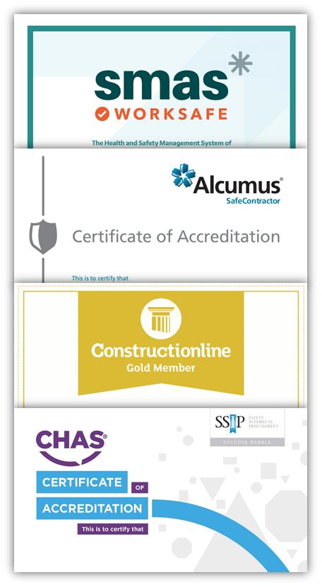 CHAS SMAS SafeContractor Constructionline Certificate Header